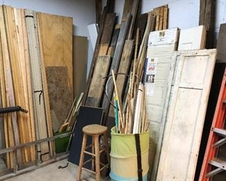 Collection of wood and shutters