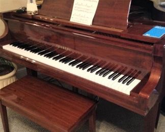 Gorgeous Tadashi baby grand piano and bench