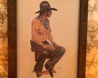 1978 Coors Cowboy by Gordon Snidow.  RARE print. Look these up on yer smart phones!
