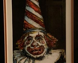 """""""Clyde"""" by James Yarbrough numbered and signed etching..."""