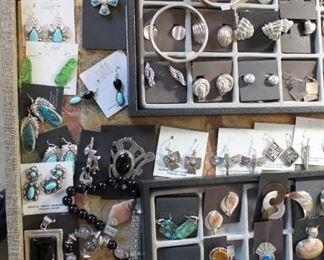 """Sterling silver jewelry from the caravan, final clearance priced at 75% off original prices. Lots of """"new"""" pieces added this weekend!"""