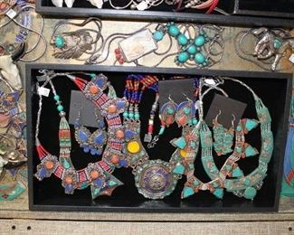 Sneak peek at the new bohemian silver and brass jewelry from Tibet, 50% off original prices.