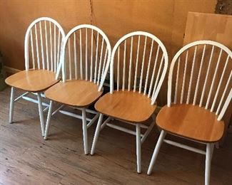 Set of four kitchen chairs