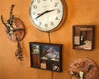 Wall Art and Electric clock