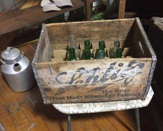 Wooden Schlitz crate