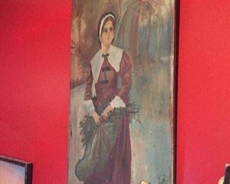 1900 Painting on wood
