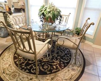 GLASS TO TABLE AND 6 CHAIRS--$300.00