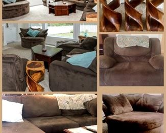 "steeple living room-check out the ""island"" chair"" it swivels and is great for confy cuddles"