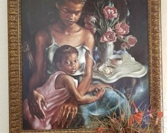 Signed oil painting art