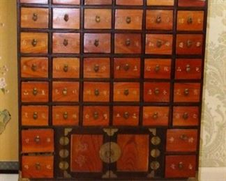 $825.00 -  Available for Presale. 40 Drawer Apothecary Cabinet