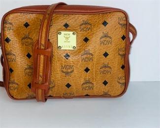 Vintage MCM Cognac Visetos Crossbody Bag