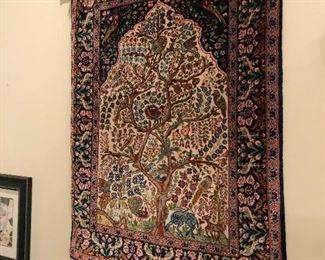 all silk tree of life tapestry  -good condition and quality