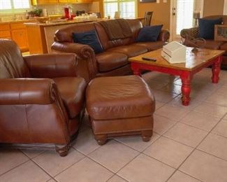 Leather living room group