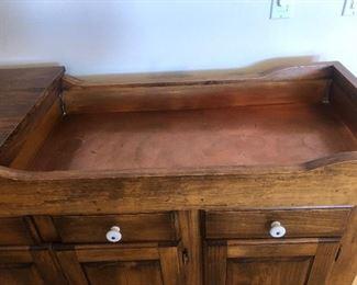 Dry sink copper tub