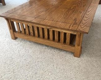 Set of 3 matching mission style coffee tables