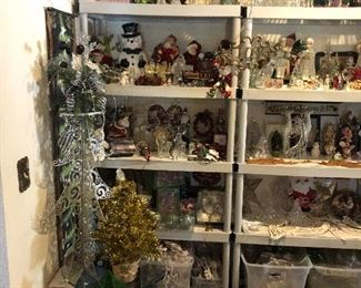 Victorian Christmas decorations of all types; ornaments, gardand, figurines, ribbon, trees, fabric, plush, etc.