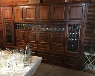 Unbelievable wall cabinet bar with drop down shelf with mirrored back