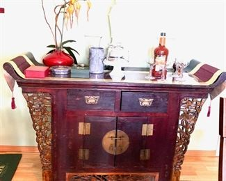 Antique Chinese Elmwood Coffer Sideboard Altar-Spectacular, must see in person