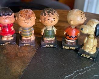 Vintage LEGO Charlie Brown bobbleheads
