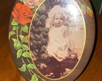 Antique photo on tin