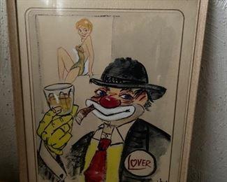 Vintage clown picture