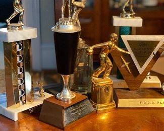 Vintage sports trophys