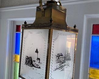 Brass lighthouse hanging lamp