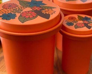 Vintage Rubbermaid canister set