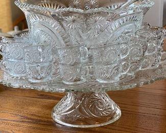 Beautiful antique punch bowl