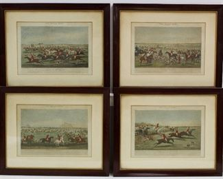 The Quorn Hunt Four Colored Engravings .
