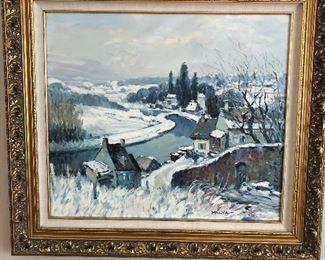Malva Oil on Canvas