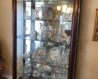 Cabinet full of Crystal