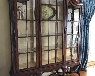 Century Bordeaux China / Display Cabinet   W: 73.50 in , D: 17 in , H: 92 in
