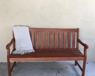 Porch bench...perfect as is, or custom paint it to match your home!