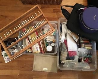 Crafting sewing supplies