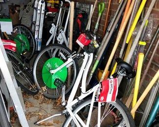 Yard tools & two new Schwinn bikes