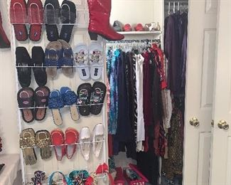 Shoes, belts, purses, hats, and beautiful clothes