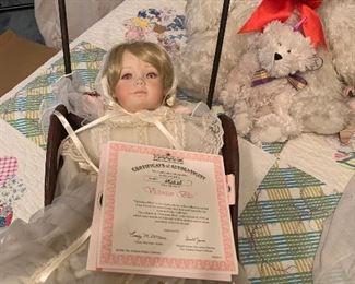 """Victorian Bliss"" porcelain doll"