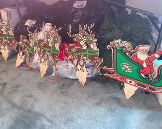 Vintage reindeer Christmas decor