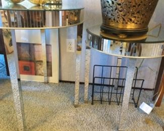 Smaller with larger mirrored table