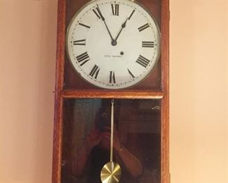 old Seth Thomas school house clock