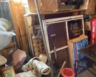 Antique window panes; fireplace mantles, more.