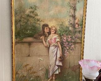 Large print in gilt frame, signed and dated 1902.