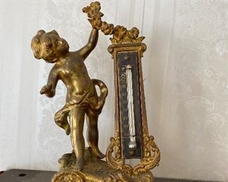 Gilt thermometer stand