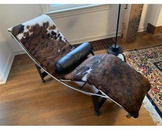 Le Corbusier LC4 Chaise Lounge chair in Cowhide by Cassina (purchased at DWR)
