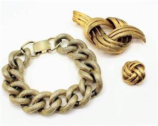 Lisner Brooch and Bracelet