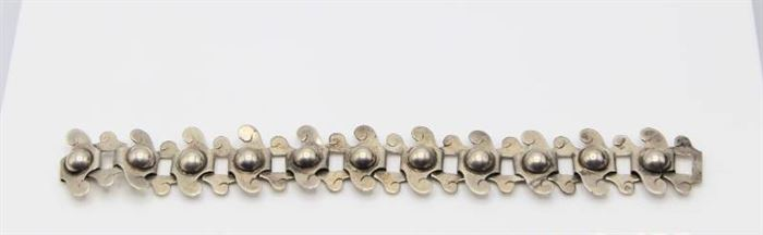 Abraham Tobias .925 Sterling Silver Link Bracelet