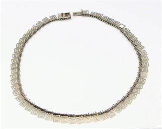 .925 Silver Necklace with unique geometric design