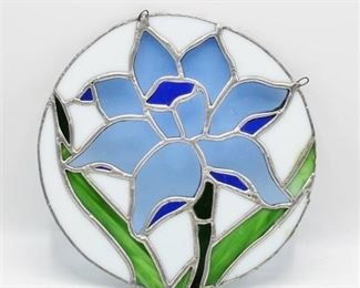 Stained Glass Window Hanging Flower Design