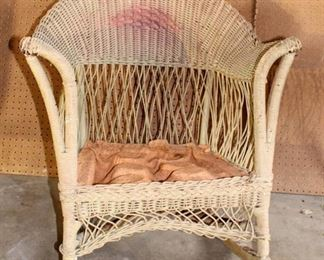 Antique/Vintage Wicker Rocking Chair
